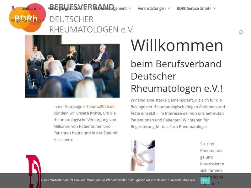 Screenshot von www.bdrh.de